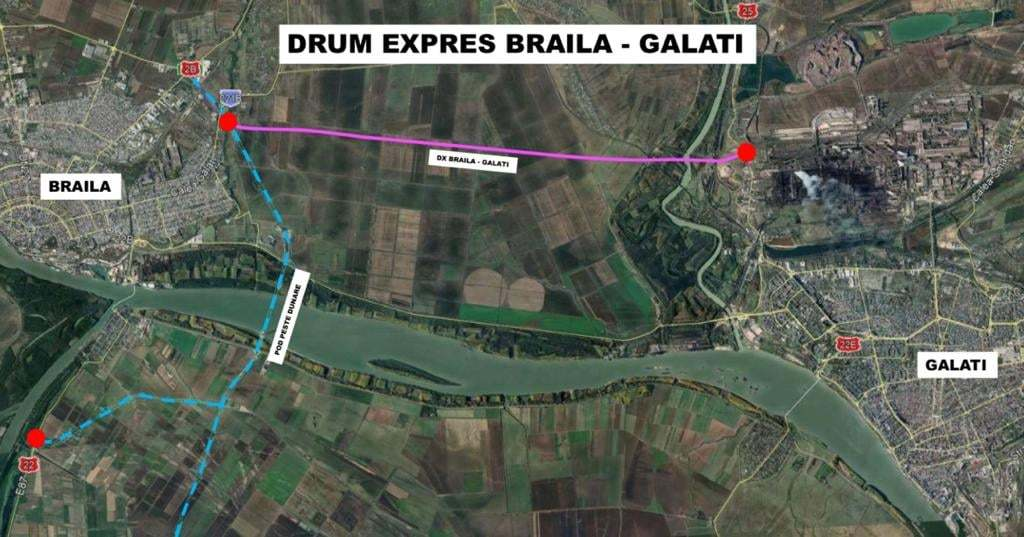 Ministrul Transporturilor a participat joi la semnarea contractului pentru construirea drumului expres Galaţi – Brăila